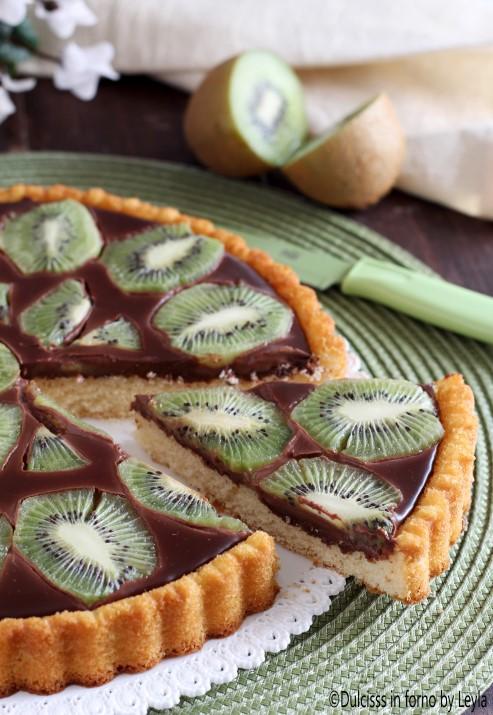 Crostata morbida con cioccolato e kiwi Dulcisss in forno by Leyla