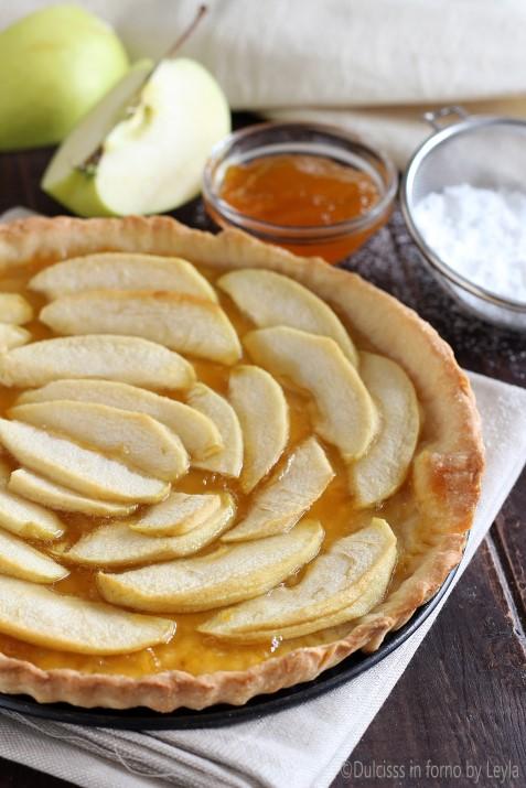 9033Crostata leggera alle mele e marmellata