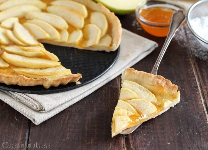 Crostata leggera con mele e marmellata Dulcisss in forno by Leyla