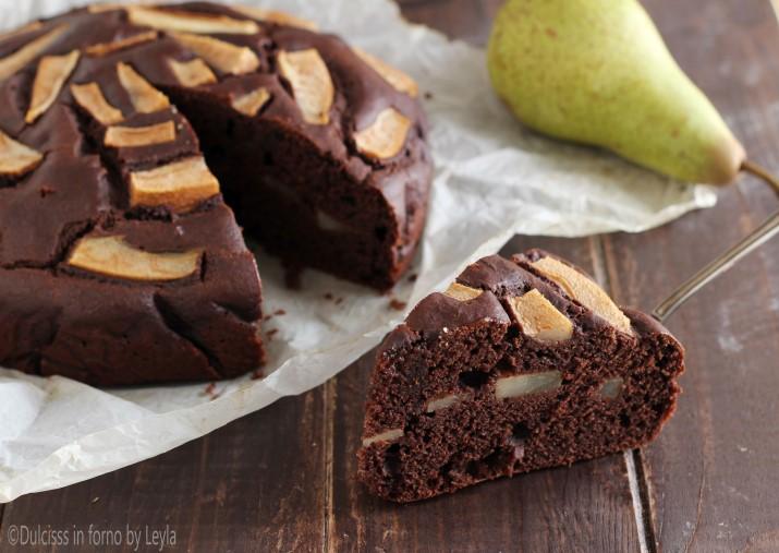 Torta pere e cioccolato morbida, ricetta senza burro