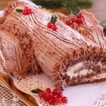 Tronchetto al cioccolato con crema al cioccolato bianco e mascarpone Dulcisss in forno by Leyla
