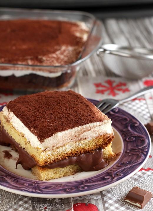 Tiramisù di pandoro con nutella e crema chantilly Dulcisss in forno by Leyla