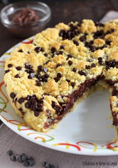 Torta sbrisolona alla nutella - torta sbriciolata alla nutella morbida