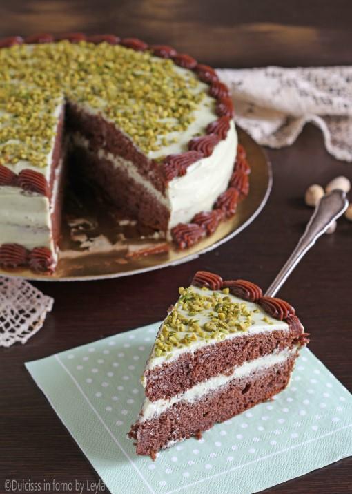 Torta al pistacchio e cioccolato Dulcisss in forno by Leyla