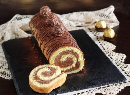 Rotolo Rocher con nocciole, nutella e wafer