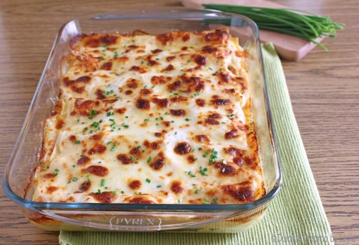 Lasagne al salmone e formaggio filante Dulcisss in forno by Leyla
