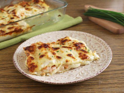 Lasagna al salmone