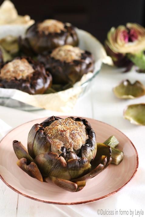 Carciofi ripieni di carne in padella o al forno Dulcisss in forno by Leyla
