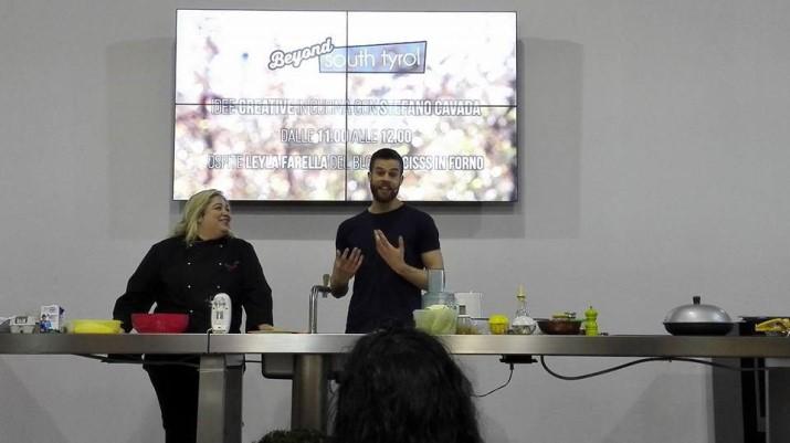 Show Cooking Fiera dell'Arredo con Dulcisss in forno by Leyla Stefano Cavada Leyla Farella Beyound South Tyrol