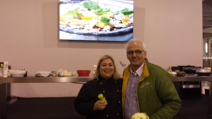 Show Cooking Fiera dell'Arredo con Dulcisss in forno by Leyla Leyla Farella Heinrich Gasteiger Chef Gasteiger
