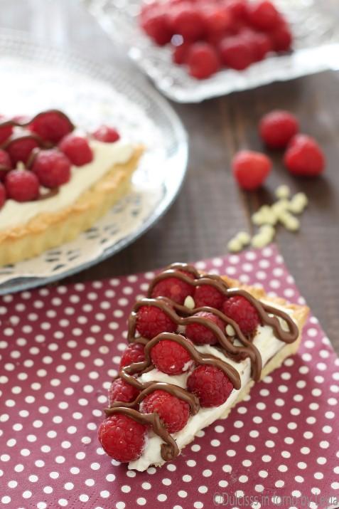 Crostata con ricotta e lamponi cremosa Dulcisss in forno by Leyla