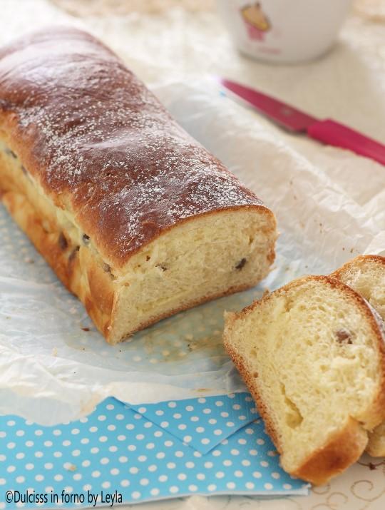 Strudel alla ricotta e uvetta di pan brioche Dulcisss in forno by Leyla