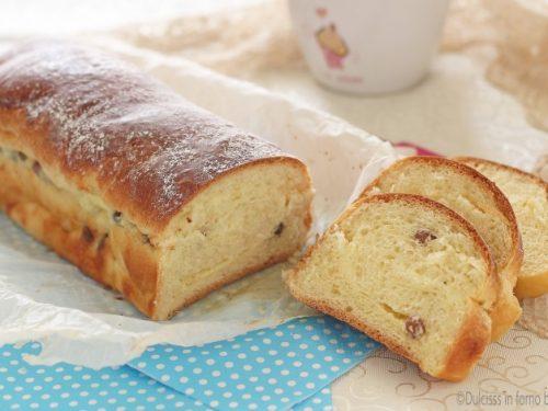 Strudel alla ricotta e uvetta di pan brioche