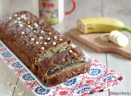 Plumcake alla banana e gocce di cioccolato morbidissimo