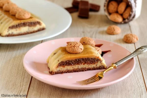 Crema agli amaretti e cioccolato o Budino Margot Dulcisss in forno by Leyla