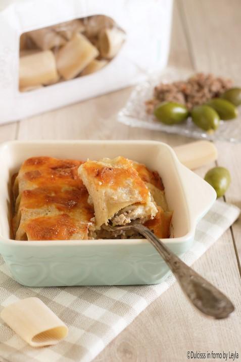 Paccheri al forno ripieni di carne all'ascolana Dulcisss in forno by Leyla