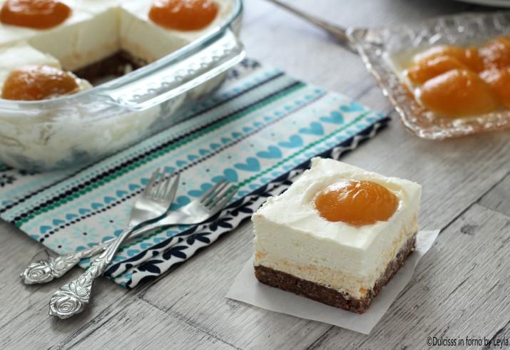 Cheesecake alle albicocche senza forno