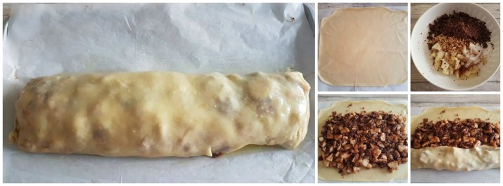 Strudel di pere cioccolato e nocciole ricetta Dulcisss in forno by Leyla