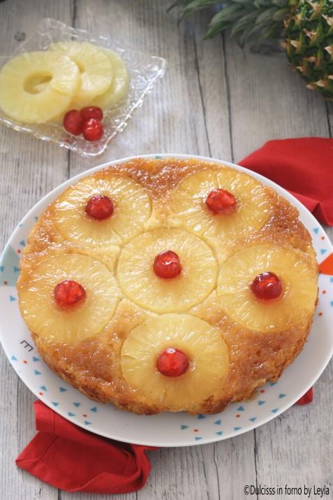 Torta ananas e yogurt rovesciata, ricetta semplice e scenografica Dulcisss in forno by Leyla