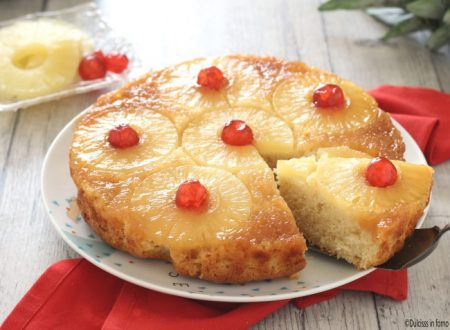 Torta ananas e yogurt rovesciata