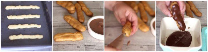 Eclair al cioccolato, ricetta con video Dulcisss in forno by Leyla