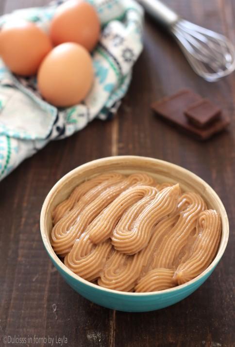 Crema pasticcera al cioccolato fondente o al latte ricetta facile Dulcisss in forno by Leyla