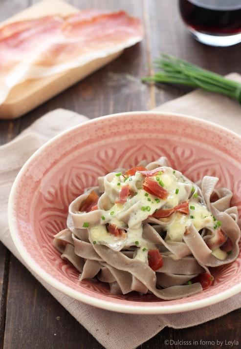 Pasta gorgonzola e speck cremosa ricetta Dulcisss in forno by Leyla