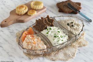 Mousse salate veloci per tartine o per farcire i vol au vent