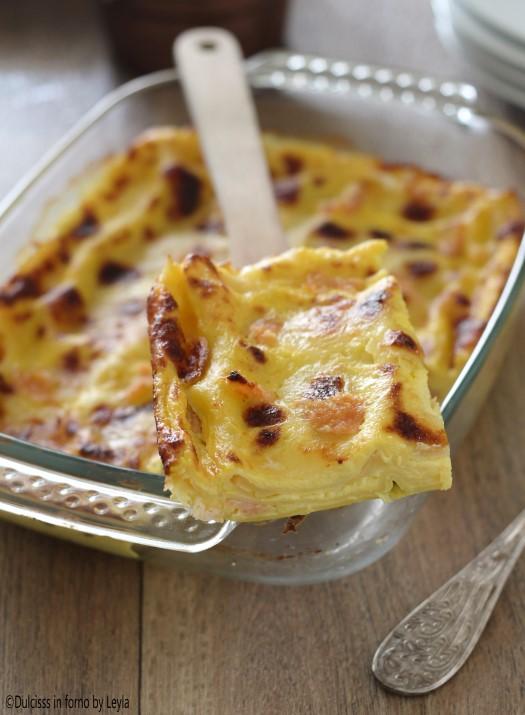 Lasagne allo zafferano e salmone: primo piatto di Natale Dulcisss in forno by Leyla