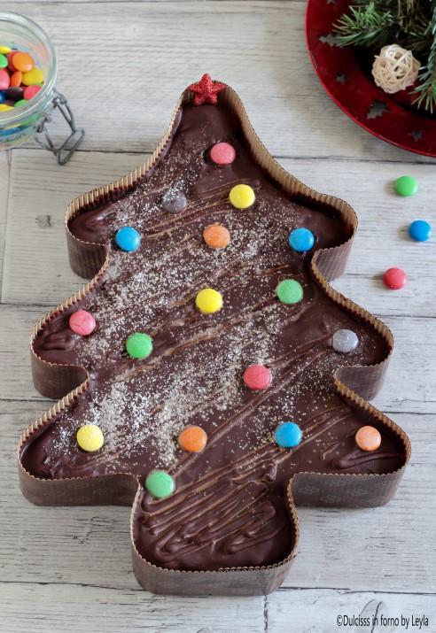 Torta Albero di Natale al cioccolato e marmellata ricetta Dulcisss in forno by Leyla