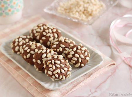 Biscotti al riso soffiato e nutella, facilissimi e veloci