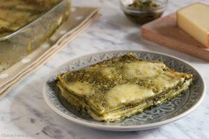 Lasagne al pesto e formaggio fontina, ricetta veloce