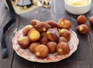 Frittelle alla crema, le mitiche Frittelle di Carnevale ripiene ricetta Dulcisss in forno by Leyla
