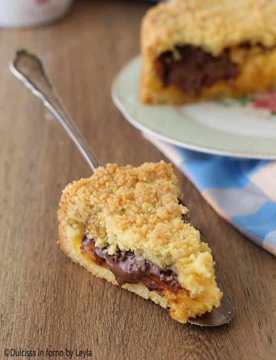 Sbriciolata alla crema e nutella o marmellata ricetta Dulcisss in forno by Leyla