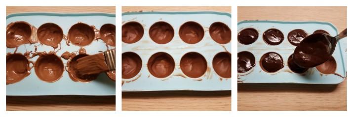 Cioccolatini Lindor fatti in casa ricetta per farli a casa con o senza stampo Dulcisss in forno by Leyla