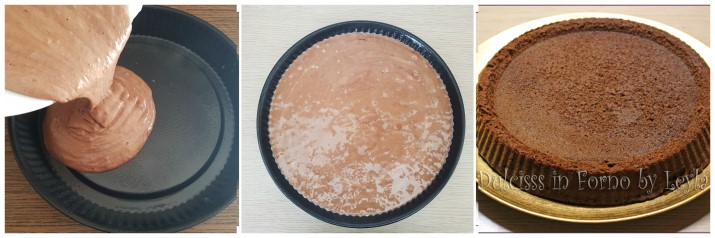 Torta morbida al cioccolato, base per crostata morbida al cioccolato con stampo furbo Dulcisss in forno by Leyla
