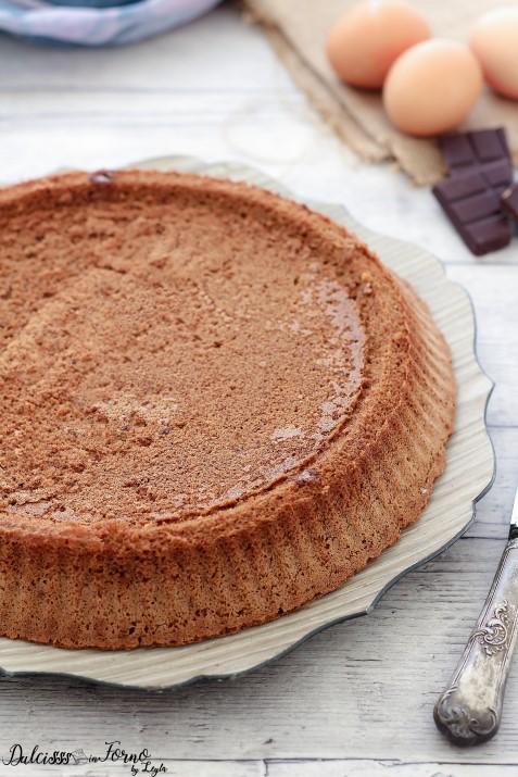 Crostata morbida al cioccolato, base per crostata morbida al cioccolato con stampo furbo Dulcisss in forno by Leyla