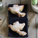 Sfogliatine con nutella a forma di colombine di Pasqua