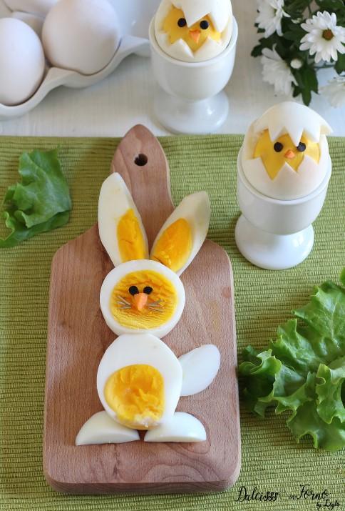 Uova sode a forma di pulcino e coniglietto di Pasqua Dulcisss in forno by Leyla