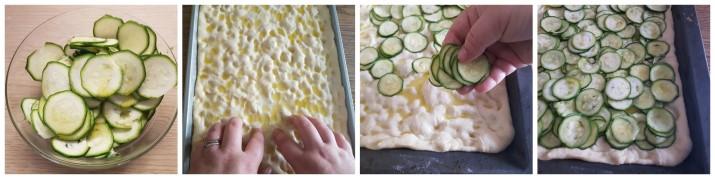 Focaccia con zucchine facile con lievito di birra ricetta Dulcisss in forno by Leyla