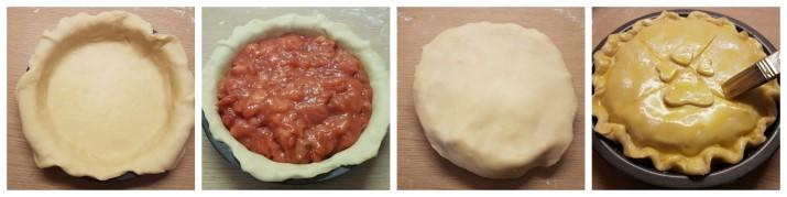 Crostata di fragole americana, ricetta Strawberry Pie Dulcisss in forno by Leyla