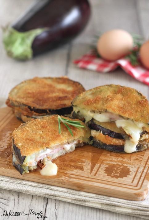 Cotolette di melanzane ripiene con prosciutto e formaggio, al forno o fritte Dulcisss in forno by Leyla