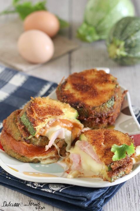 Cotolette di zucchine ripiene con prosciutto e scamorza al forno o fritte Dulcisss in forno by Leyla