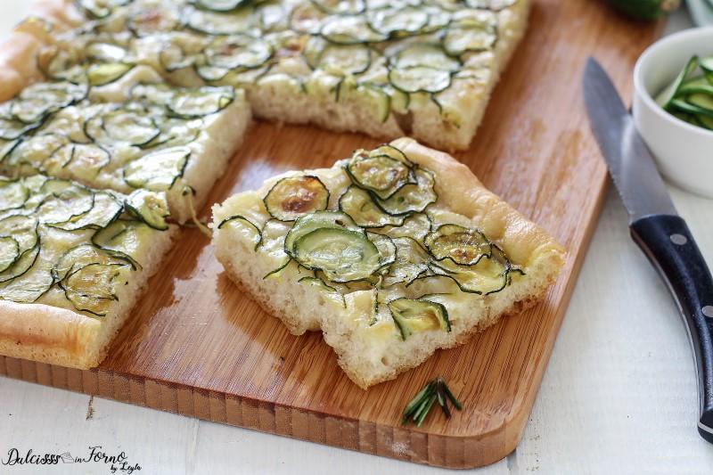 Focaccia con zucchine ricetta