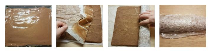 Rotolo con panna e nutella, rotolo veloce al cioccolato, panna e nutella ricetta Dulcisss in forno by Leyla