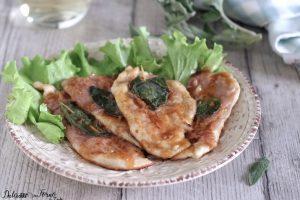 Saltimbocca di pollo alla romana con prosciutto crudo e salvia