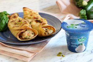 Cannelloni di crepes con ricotta, salmone e zucchine