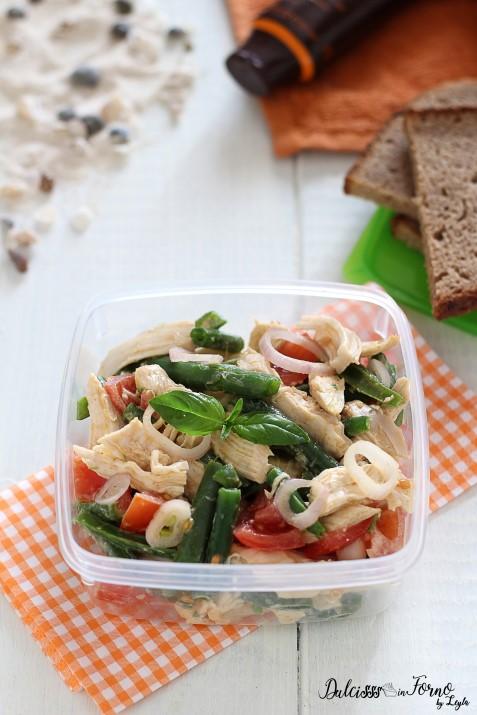 Insalata di pollo light con pomodorini e fagiolini, ricca di gusto ricetta Dulcisss in forno by Leyla