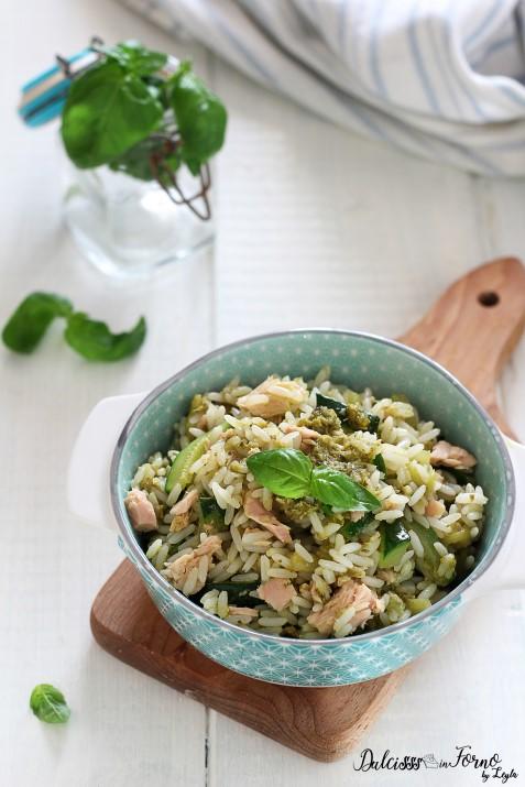 Riso freddo tonno zucchine e pesto ricetta Dulcisss in forno by Leyla