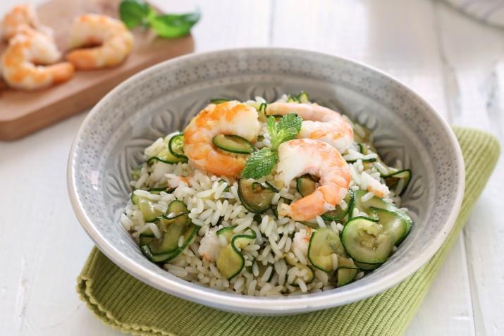 Riso freddo con zucchine e gamberi un 39 insalata di riso for Ricette culinarie